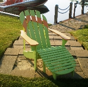Flip Flop Adirondack With Ottoman